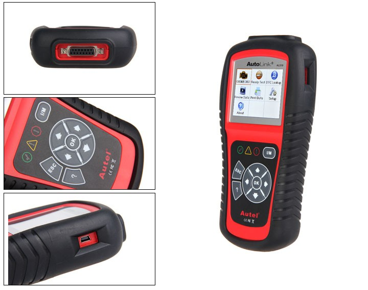 Autel AutoLink AL519 OBDII EOBD & CAN Scan Tool Support Online Update